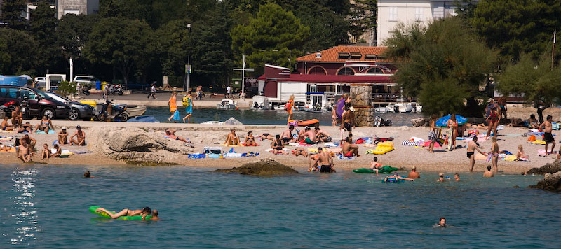 Krk city beach